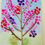 Paint a cherry blossom tree