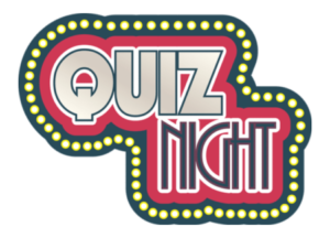 host an online quiz night - picture of the words 'quiz night'