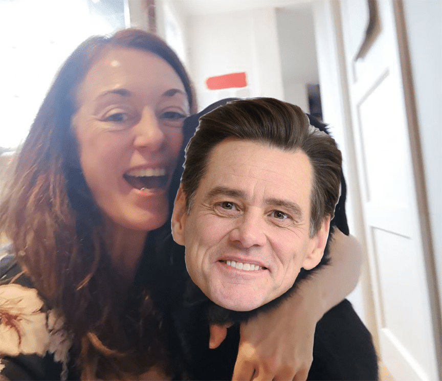 Leigh Brownlee and Jim Carrey