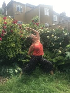 yoga in garden