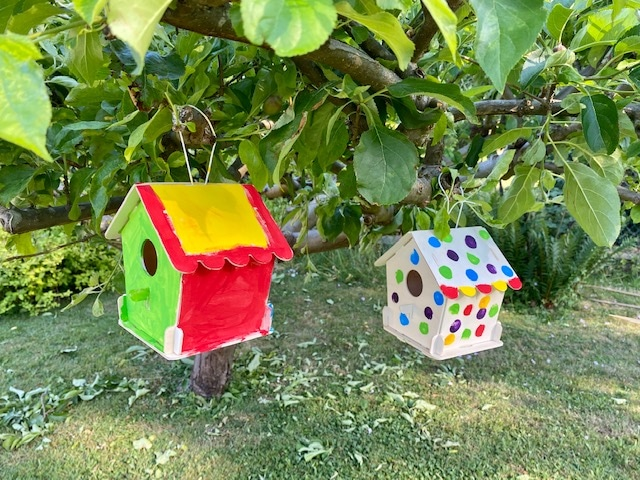 Make a personalised bird nesting box with the kids - image of bird nesting box