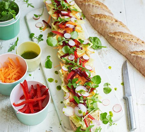 Stuffed Rainbow Baguette